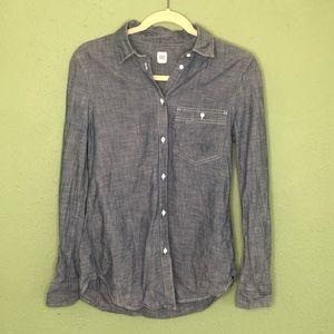 Gap Chambray Button Down Shirt Size Small